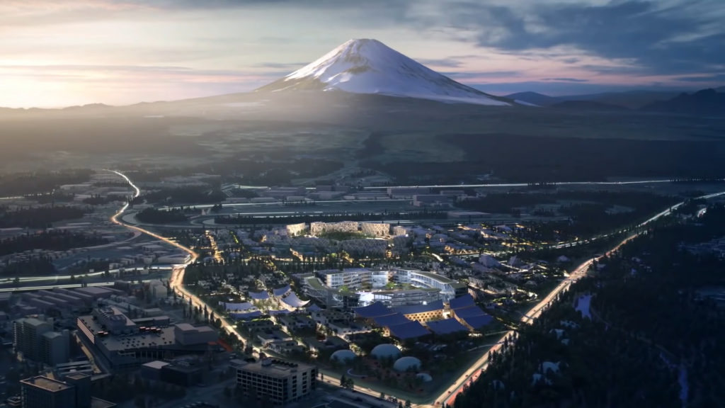 Woven city  with Mt. Fuji